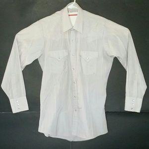 Ely Cattleman Shirts - Ely Cattleman Western Shirt Pearl Snap Buttons EUC